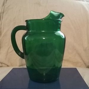 Other - Green glass pitcher